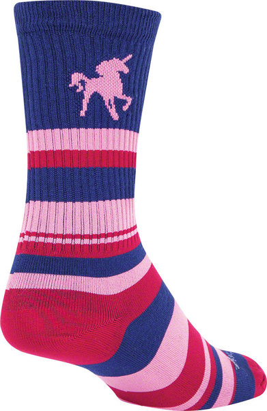"Sock Guy 6"" Crew Sock Color: Pink Unicorn"