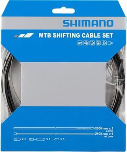 Shimano MTB 1x Shift Cable Set, Stainless, Black