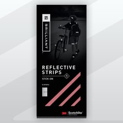 Brilliant Reflective Reflective Stick-On Strips -- Red