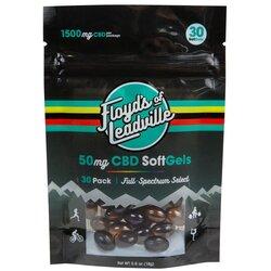 Floyd's of Leadville CBD Softgels, Full Spectrum, 30 Capsules (50MG)