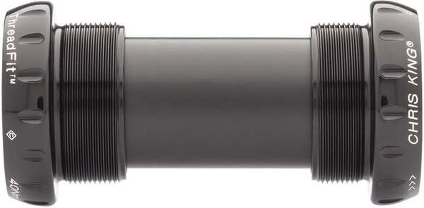Chris King ThreadFit 24 Bottom Bracket with Fit Kit 6 - English, For SRAM/Truvativ GXP, Black
