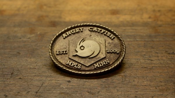 Angry Catfish Angry Catfish - Belt Buckle est. 2009