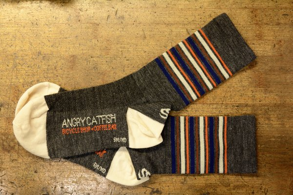 Angry Catfish Angry Catfish Sock - Wool - Grey/Orange/Brown/Cream