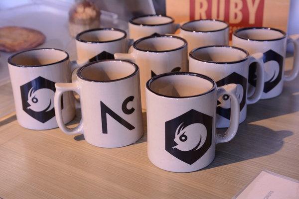 Angry Catfish Red Wing Stoneware ACF / Northern Coffee mug