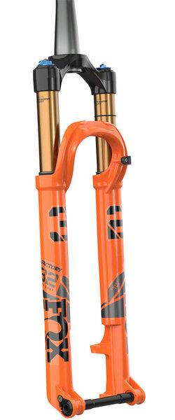 "Fox 32 Step-Cast Factory Suspension Fork - 29"", 100 mm, 15 x 110 mm, 51 mm Offset, Shiny Orange, FIT4, 3-Position"