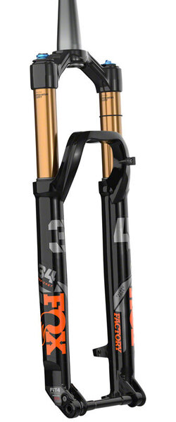 "Fox 34 Step-Cast Factory Suspension Fork - 29"", 120 mm, 15 x 110 mm, 51 mm Offset, Shiny Black, FIT4, Push-Lock"