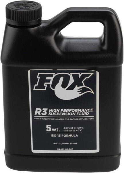 Fox 5 wt R3 Suspension Oil, ISO 15, 1 Quart
