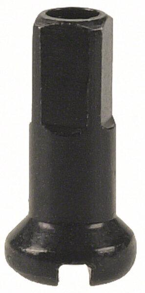 DT Swiss Standard Spoke Nipples - Brass, 2.0 x 12mm, Black, Box of 100