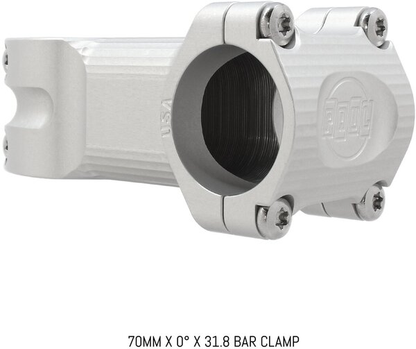 """Paul Component Engineering Boxcar Stem - 70mm, 31.8 Clamp, +/-0, 1 1/8"""", Aluminum, Silver"""