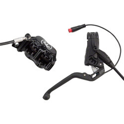 Magura MT5e eBike Disc Brake and Lever - Front or Rear, Hydraulic, Post Mount, Black