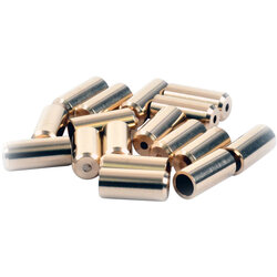 Wheels Manufacturing Inc. Cable Housing Ferrule - Brass, 4mm, Bottle of 50