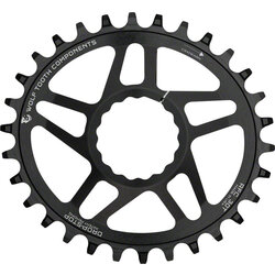 Wolf Tooth Components Elliptical Direct Mount Chainring - 32t, RaceFace/Easton CINCH Direct Mount, Drop-Stop, 6mm Offset, Black