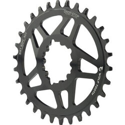 Wolf Tooth Components Wolf Tooth Elliptical Direct Mount Chainring - 30t, SRAM Direct Mount, Drop-Stop, For SRAM 3-Bolt Boost Cranksets, 3mm Offset, Black