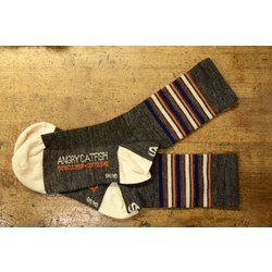 Angry Catfish Angry Catfish Sock - Wool - Grey/Orange/Brown/Cream