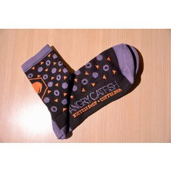 DeFeet Angry Catfish Socks - Black/Orange/Gray Large