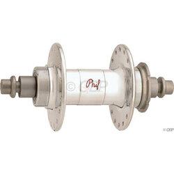 Phil Wood High Flange Rear Hub - Threaded x 120mm, Rim Brake, Threaded, Silver, 32H