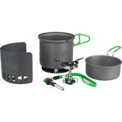 Optimus Elektra FE Camp Stove - Green, Includes Pot and Windscreen