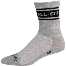 All-City Classic Wool Sock - Grey, Black