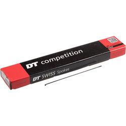 DT Swiss Competition Spoke: 2.0/1.8/2.0mm, 280mm, J-bend, Black, Box of 100