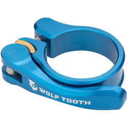 Wolf Tooth Components Quick Release Seatpost Clamp - 29.8mm, Blue