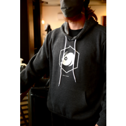 Angry Catfish Pullover Logo Hoodie - Charcoal