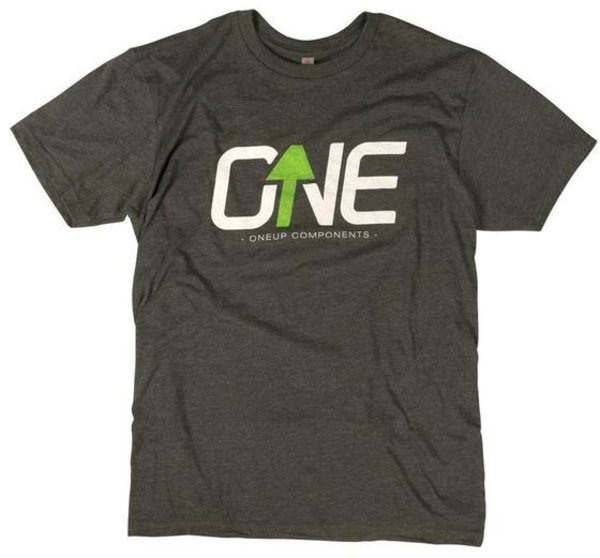 OneUp Components Logo T-Shirt Heather Black