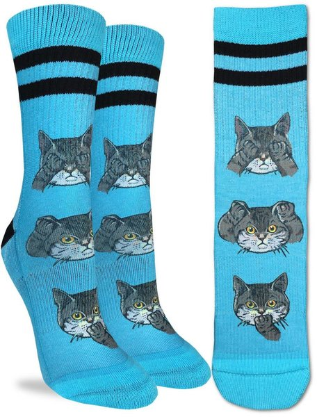 Good Luck Socks Womens Sport No Evil Cats