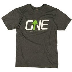 OneUp Components Logo T-Shirt Heather Black
