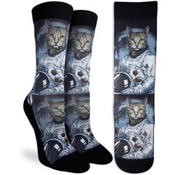 Good Luck Socks Womens Sport Astronaut Cat