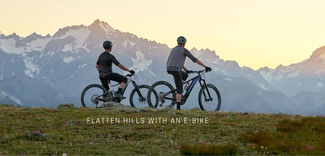 Two men mountain biking using Giant Trance X e-Bikes