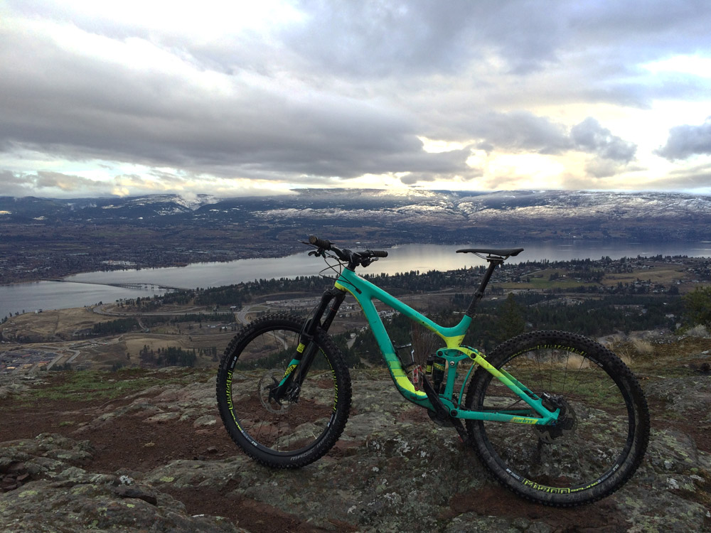 Mountain biking at Rose Valley, West Kelowna