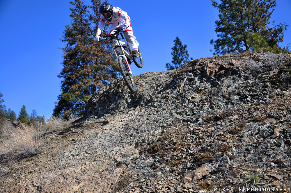 Mountain Biker on Knox Mountain