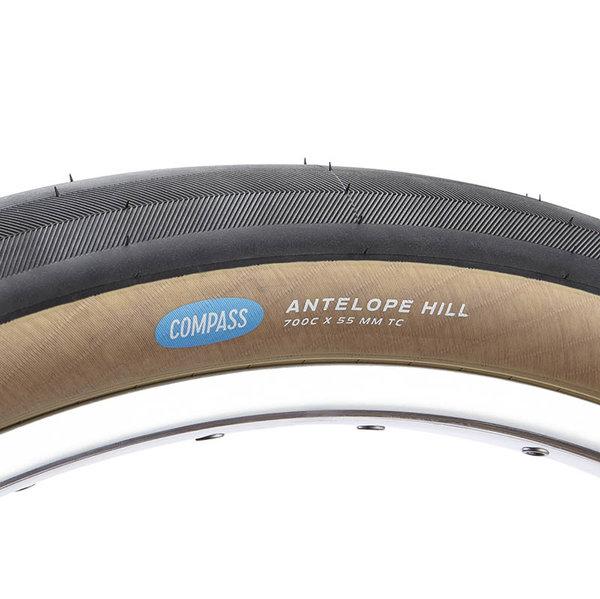 Compass Tire Antelope Hill 700x55 Black/Tan Standard