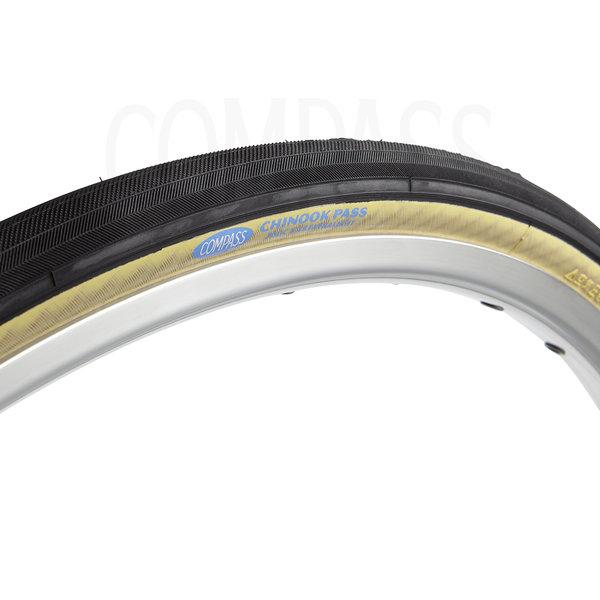 Compass Tire Chinook Pass 700x28 Black/Tan Extralight