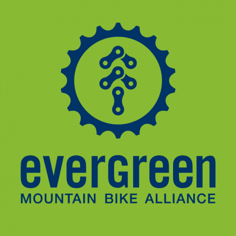 Evergreen Mountain Bike Alliance logo.