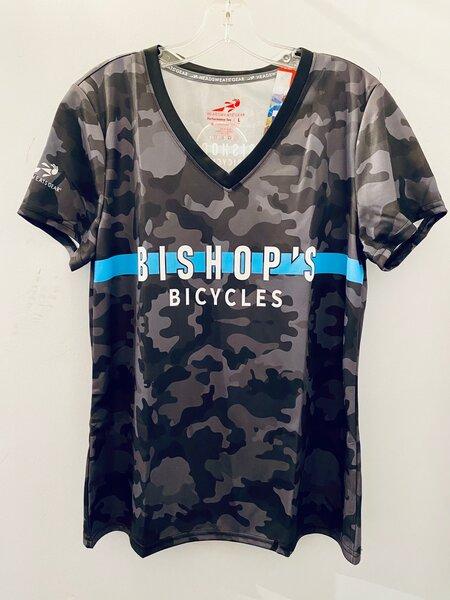 Bishop's Bicycles Bishop Performance V Neck T-shirt Camo
