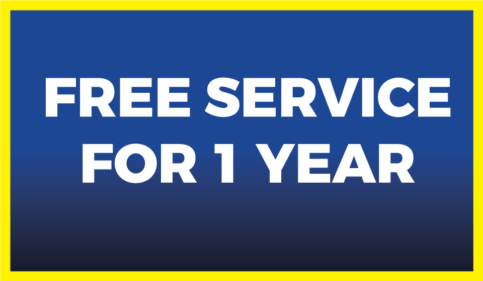 Free Service for 1 Year