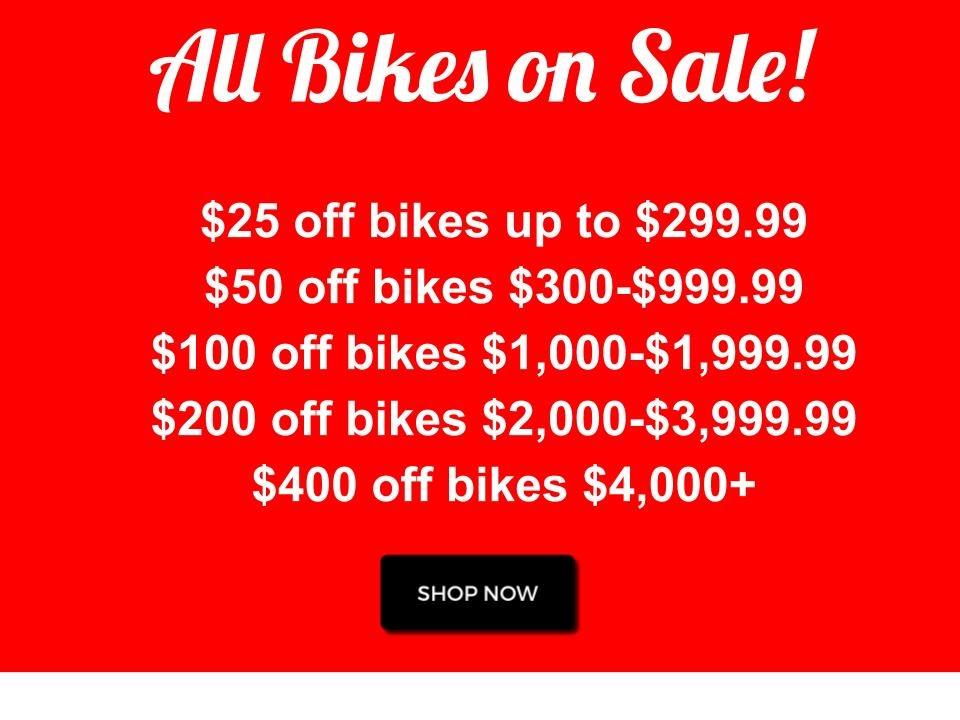 deals on bikes