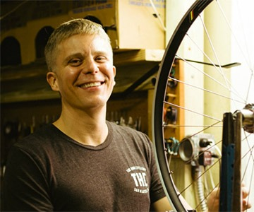 Andy, founder of the Hub Cyclery