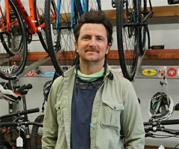 Benjamin at the Hub Cyclery