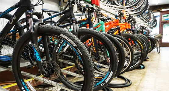 The Hub carries bikes from by: Giant, Kona, Surly, All-City, and Salsa.
