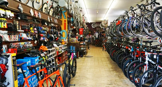 The Hub has a complete inventory of bikes, parts, and accessories.