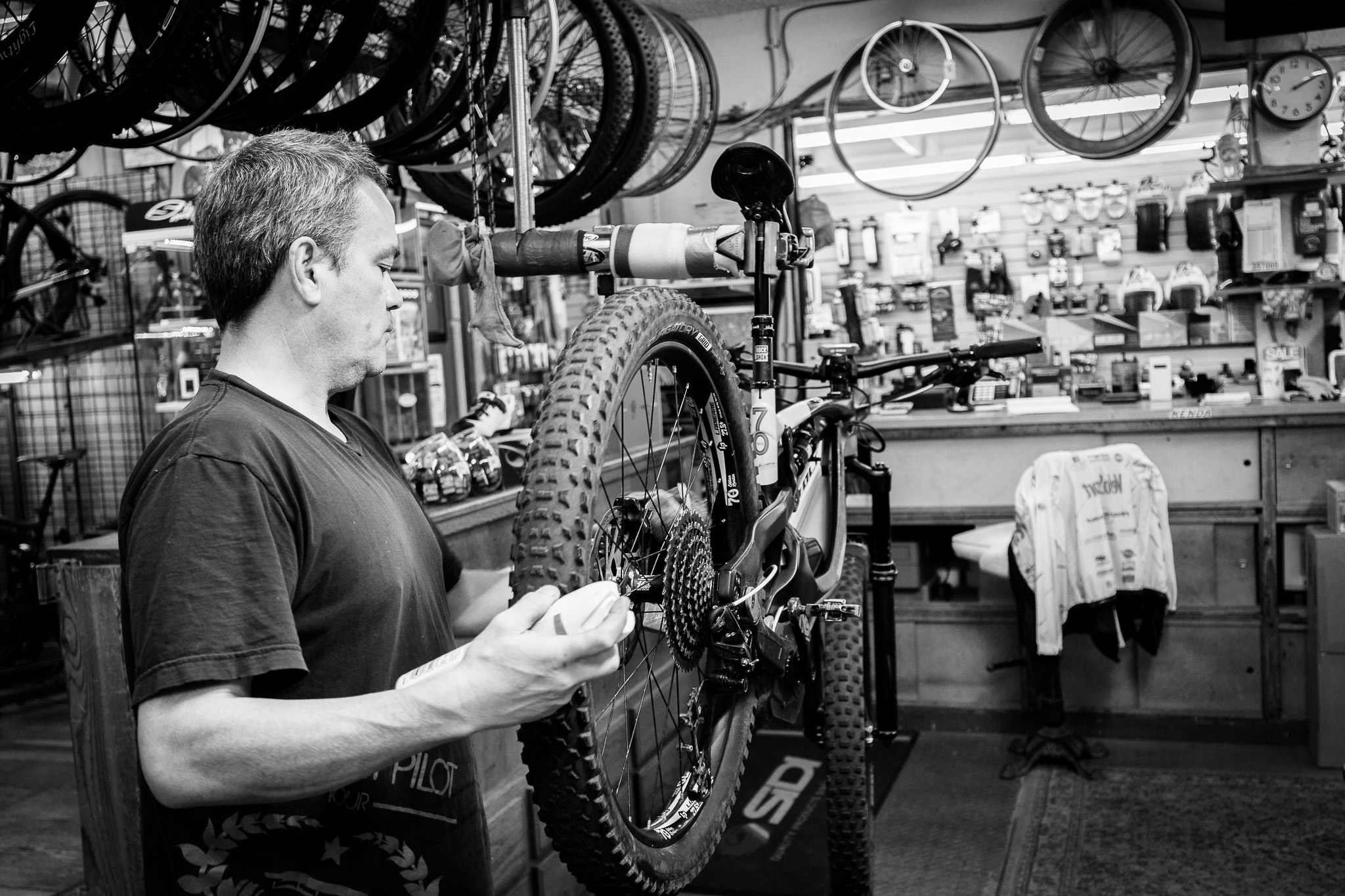 Terry in the shop