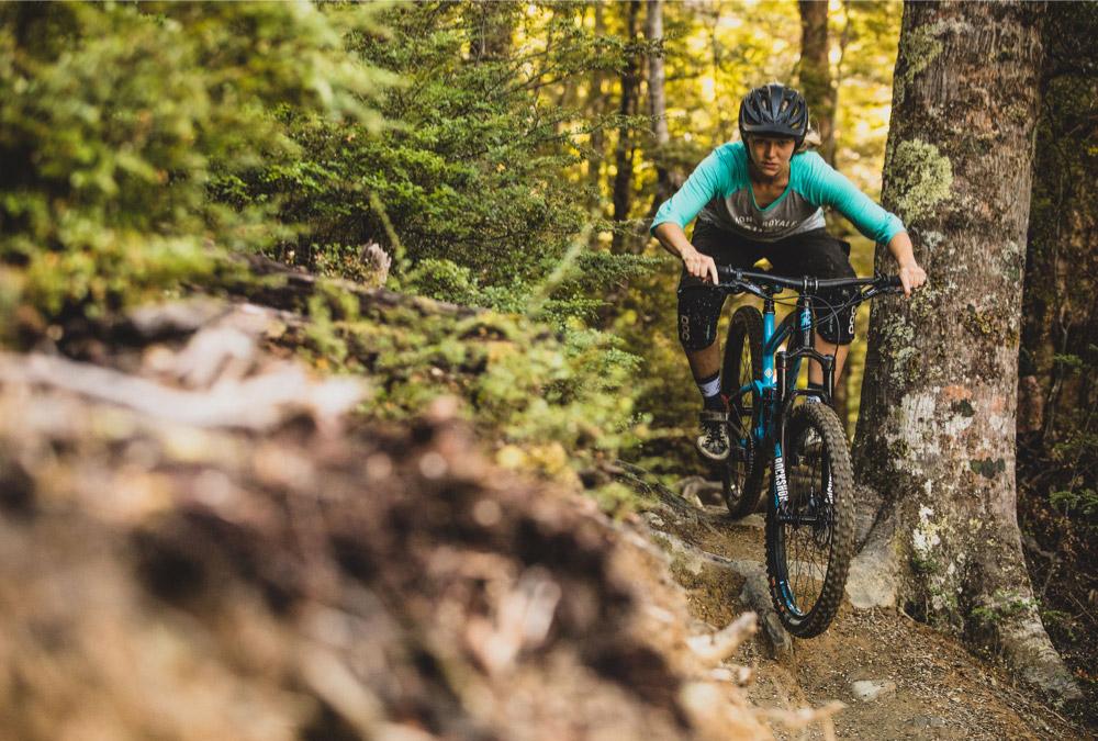 Test riding a Kona Hei Hei Trail