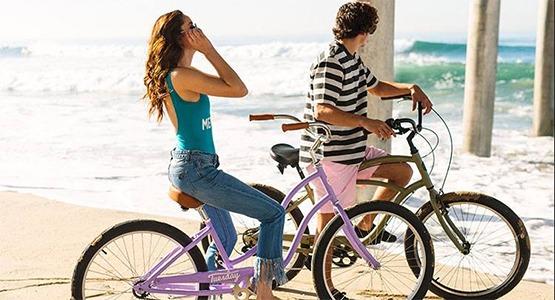 Freedom Bicycles rents bikes.