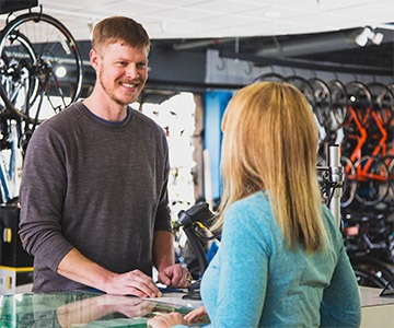 Freedom Bicycles means friendly, helpful service.