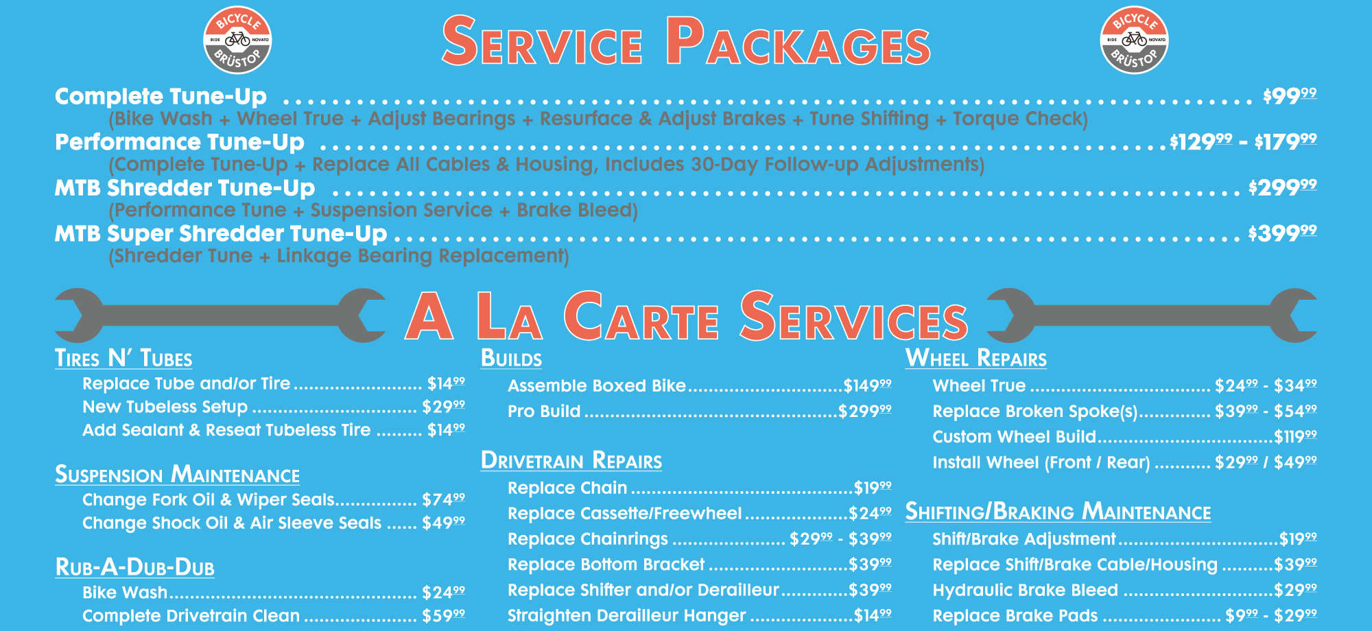 Service Packages and A La Carte SErvices