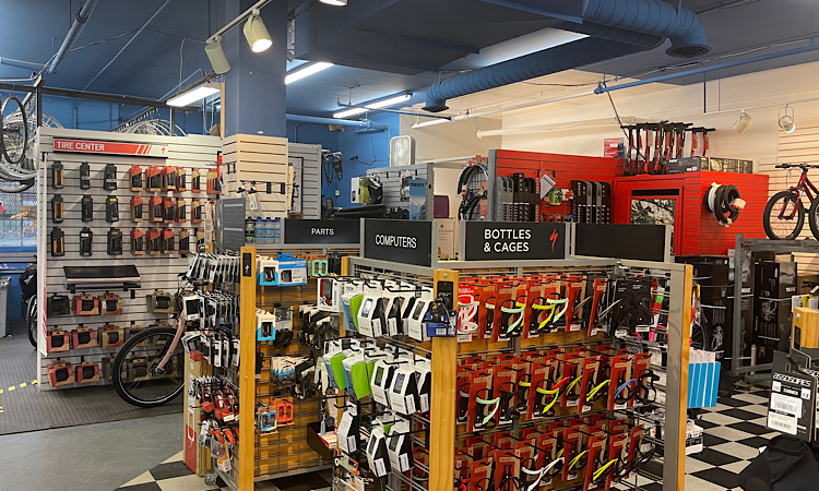 The retail floor of Bicycle Chain