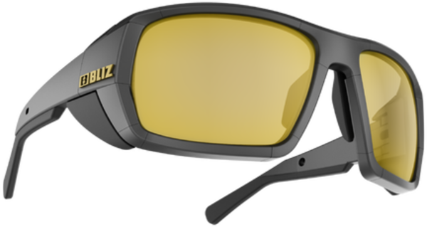 Bliz Optics Peak Matte Black Frame, Polarized Brown with Gold Mirror Mountaineering Lens