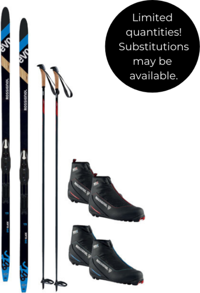 On or Off Trail Adventure Waxless with Rossignol XC60